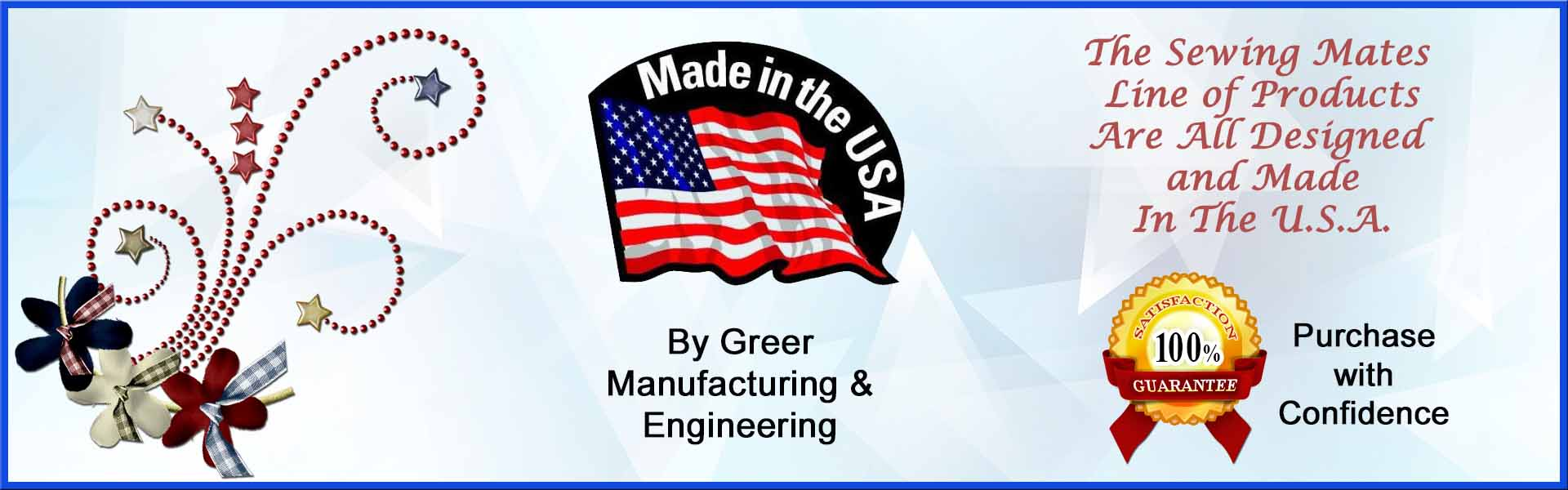 Made in the USA Satisfaction Guarantee